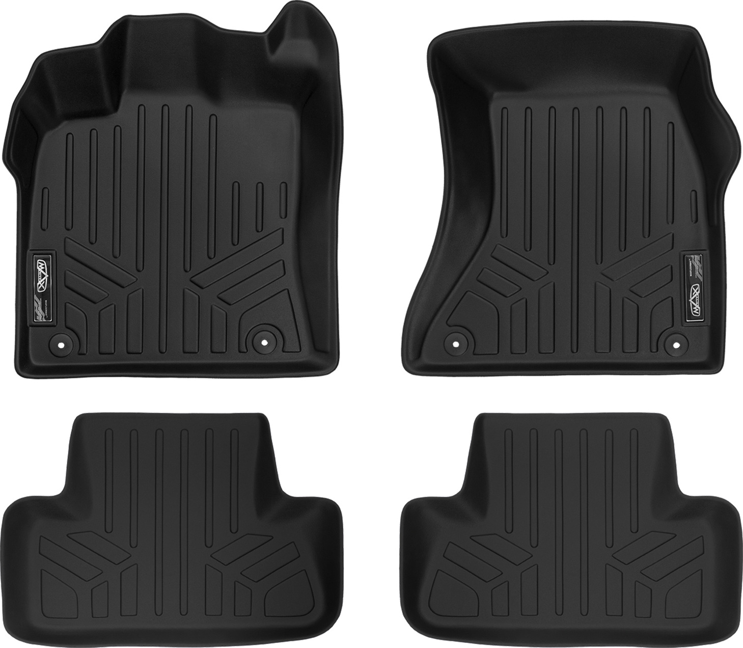 MAXLINER All Weather Floor Mats Set 2 Rows and Cargo Liner for Tucson Black